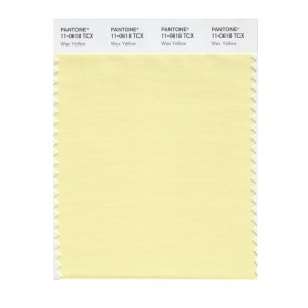 Pantone 11-0618 TCX Swatch Card Wax Yellow