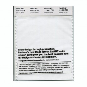 Pantone 11-4001 TCX Swatch Card Brilliant White