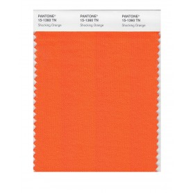 Pantone 15-1360 TN Shocking Orng Nylon Brights Swatch Card