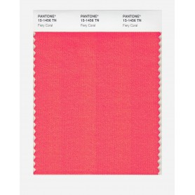 Pantone 15-1456 TN Fiery Coral Nylon Brights Swatch Card