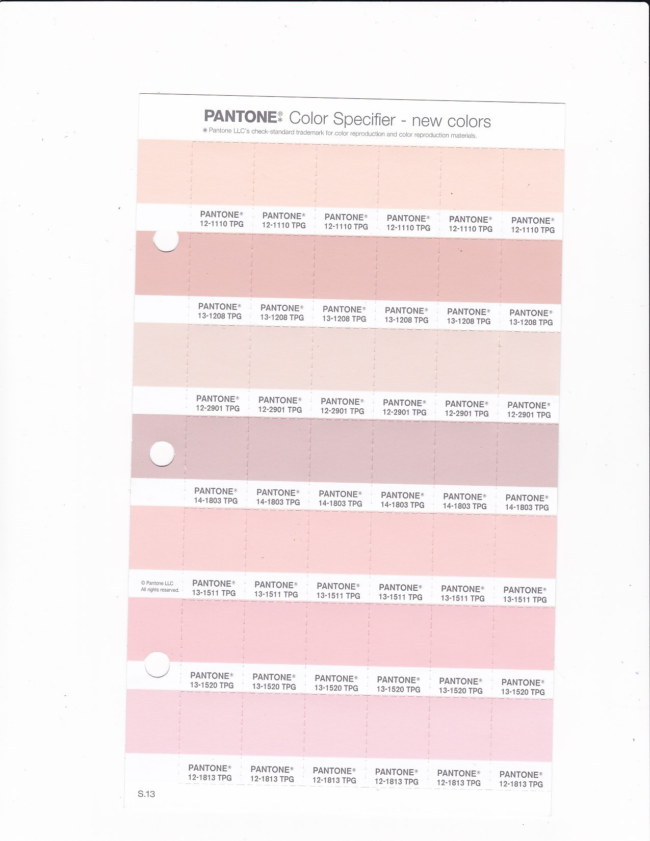 PANTONE 12 2901 TPG Morganite Replacement Page (Fashion, Home U0026 Interiors)