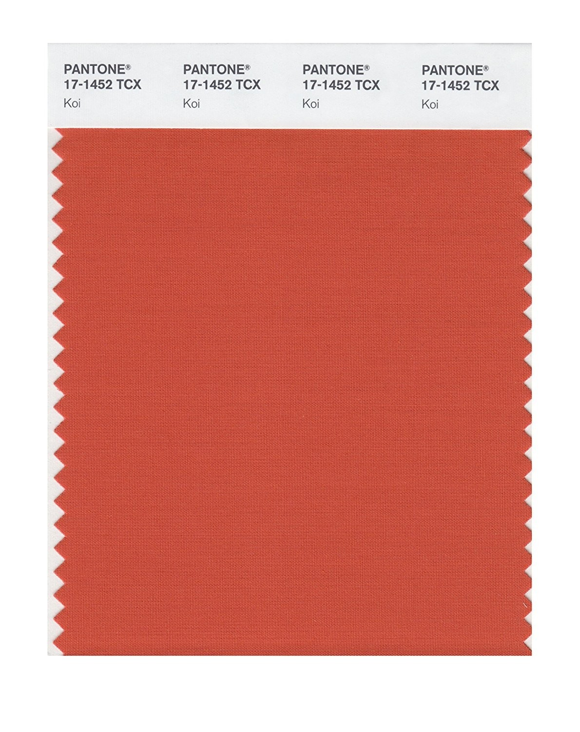 Pantone 17-1452 TCX Swatch Card Koi