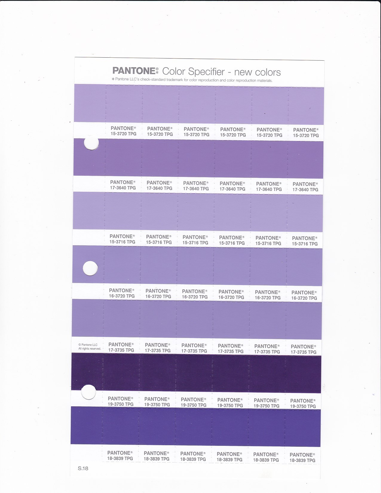 PANTONE 15 3716 TPG Purple Rose Replacement Page Fashion Home
