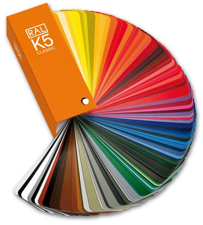 RAL K5 Semi Matte Colour Chart Classic (213) Shade Card [2016 Edition]