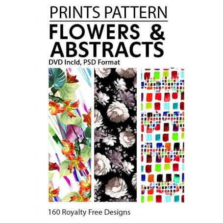 Prints & Pattern | Flowers & Abstract Book Incl 2 DVD (Layered Files)