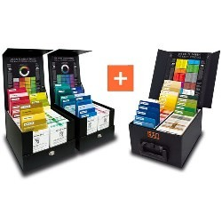 RAL P1 + P2 Set 300 Plastic Colour Plates in 3 Protective Cases