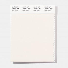 Pantone 11-0501 TSX Baby Powder Polyester Swatch Card