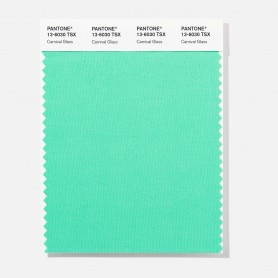 Pantone 13-6030 TSX Carnival Gla Polyester Swatch Card