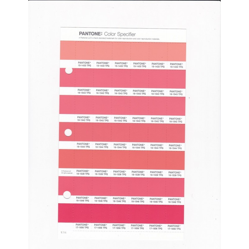 Apartment Blue Book: PANTONE 16-1546 TPG Living Coral Replacement Page (Fashion