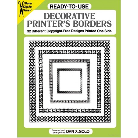 Ready to Use Decorative Printer's Border Book for Print & Embroidery by Dover USA