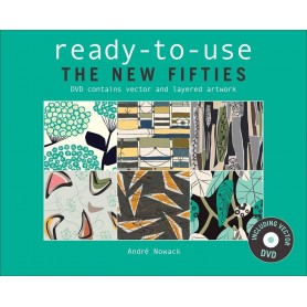 Ready To Use THE NEW FIFTIES Contemporary Prints Book Incl DVD