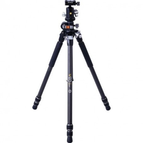 Vanguard Veo 3+ 263CB | Professional Carbon Fiber Tripod with Ball Head | Overhead Shooting, VAVEO3P263CB