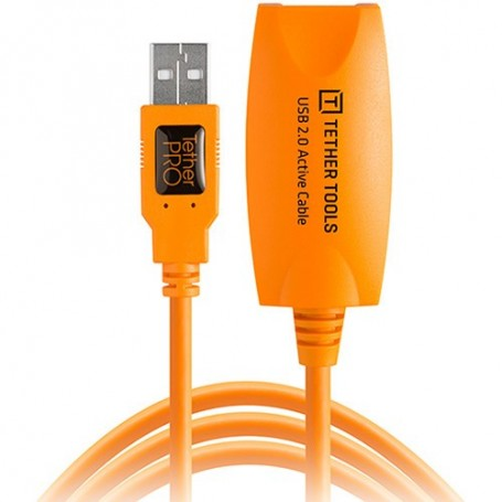 Tether Tools TetherPro USB 2.0 Active Extension Cable (16', Orange) CU1917 - 1