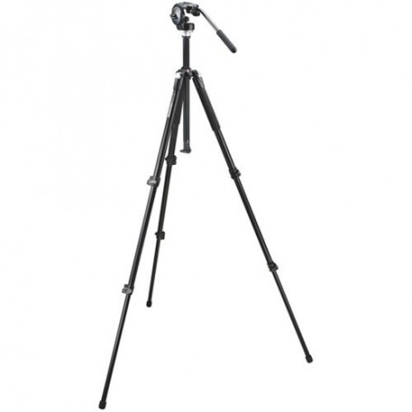 Manfrotto 055XB,128RC Tripod System with QR (Black) 055XB,128RC