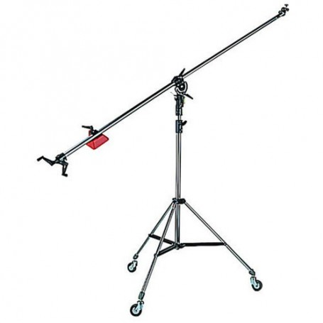 Manfrotto Super Boom with 008BU Stand - Black, 025BS