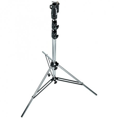 Manfrotto Heavy Duty Chrome Plated Steel Stand with Leveling Leg 10.9 Feet 3.3m, 126CSU