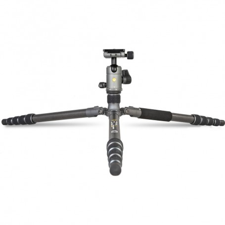 Vanguard Veo 3 GO 265HCB Carbon Fiber Tripod/Monopod with BH-120 Ball Head, Smartphone Connector, and Bluetooth Remote