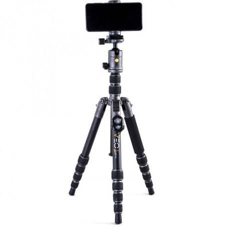 Vanguard Aluminum Tripod/Monopod with T-50 Ball Head, Smartphone Connector and Bluetooth Remote, VEO3GO235AB