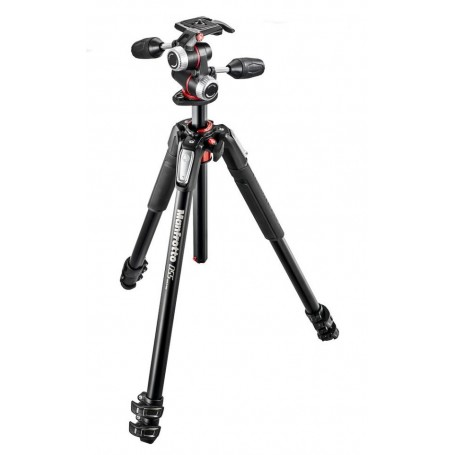 Manfrotto 055 Kit  Alu 3 section Horiz. Column Tripod with Head, MK055XPRO3-3W
