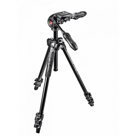 Manfrotto 290 Light Alu 3-Section Tripod Kit with MH293D3 3-Way Head MK290LTA3-3W