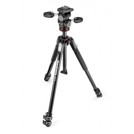 Manfrotto 190X Tripod with 804 3-Way Head and Quick Release Plate MK190X3-3W1