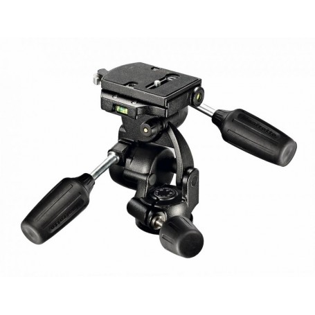 Manfrotto 3-Way Pan/Tilt Tripod Head with RC4 Quick Release Plate, 808RC4