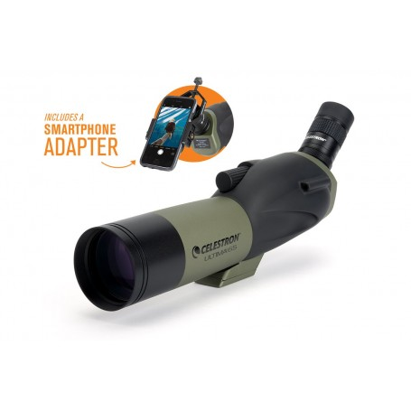 Celestron Ultima 65 - 45 Degree Spotting Scope With Smartphone Adapter, 52348