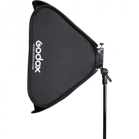 Godox S2 Bowens Mount Bracket with Softbox, Grid & Carrying Bag Kit 31.5 x 31.5 Inches, SGGV8080