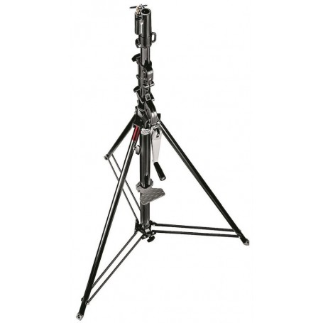 Manfrotto Geared Wind-Up Stand with Safety Release Cable, Black Chrome, 087NWB