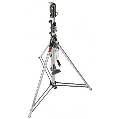 Manfrotto Geared Wind-Up Stand with Safety Release Cable, Chrome Steel, 087NW