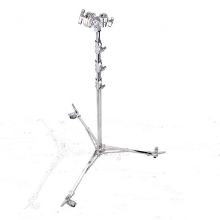 Avenger Overhead Stand 58 with Braked Wheels Chrome Plated19 Feet A3058CS
