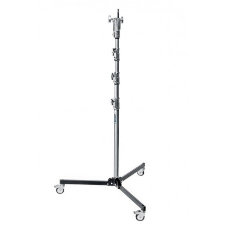 Avenger Roller Stand 34 with Folding Base Chrome-Plated Black 11 Feet A5034