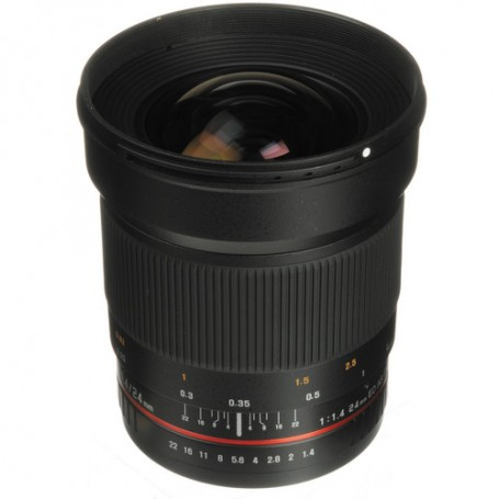 Samyang 24mm F 1.4 ED AS UMC Wide Angle Lens for Canon EF, SY24M-C