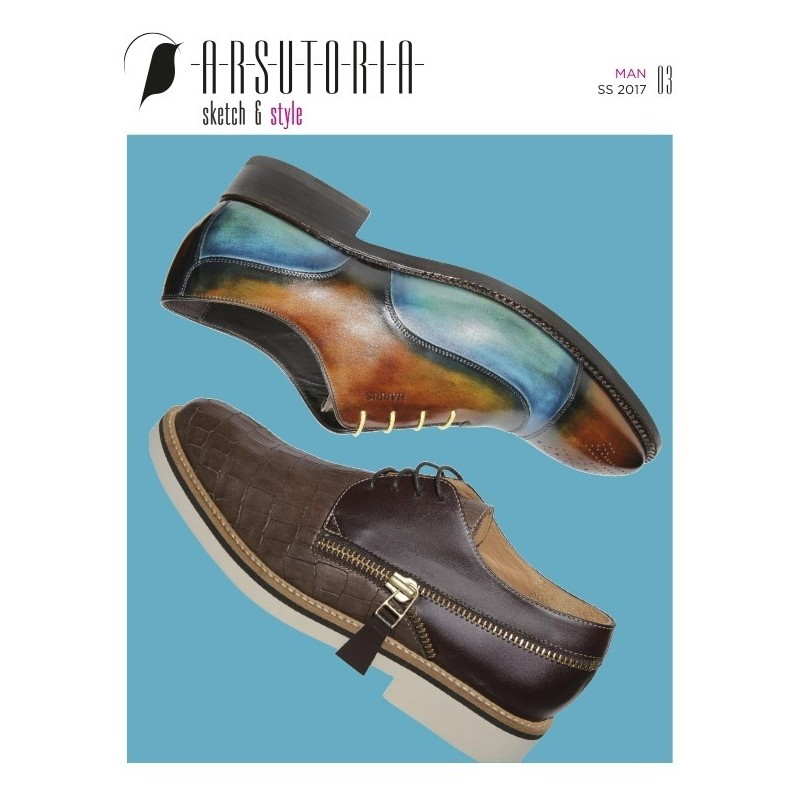 Arsutoria Jolly Sketch & Style Man Shoe Design Magazine Buy in India