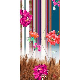 Digital Prints Stripes with Flowers 2010 Design