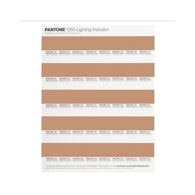PANTONE LIGHTING INDICATOR Stickers LNDS-1PK-D50