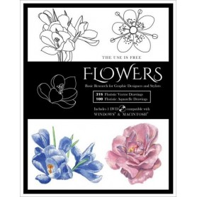 Flowers Vector Designs Book Incl DVD