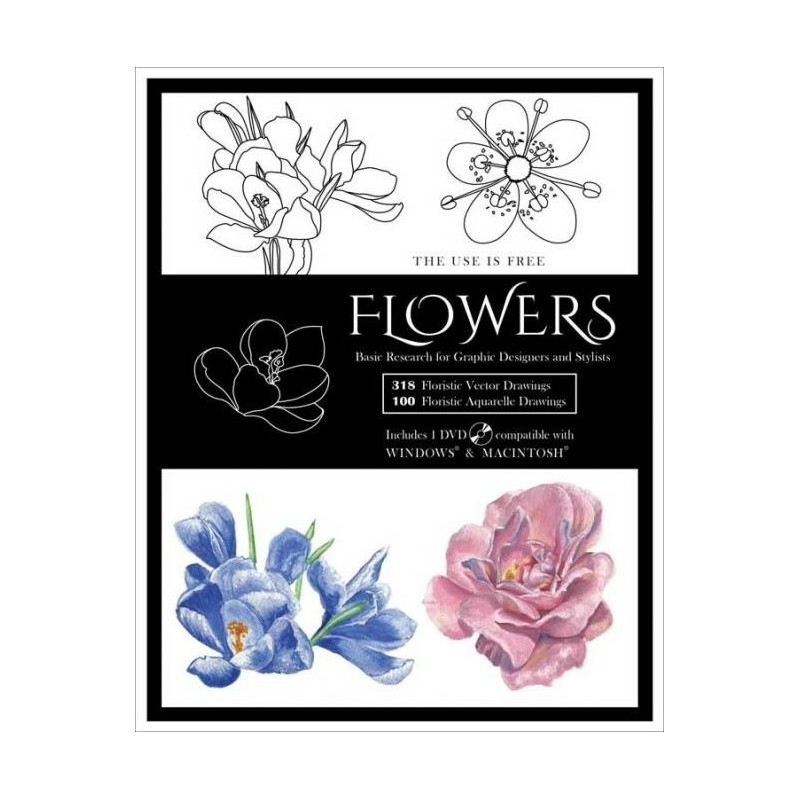 Flowers Vector Designs incl DVD Book