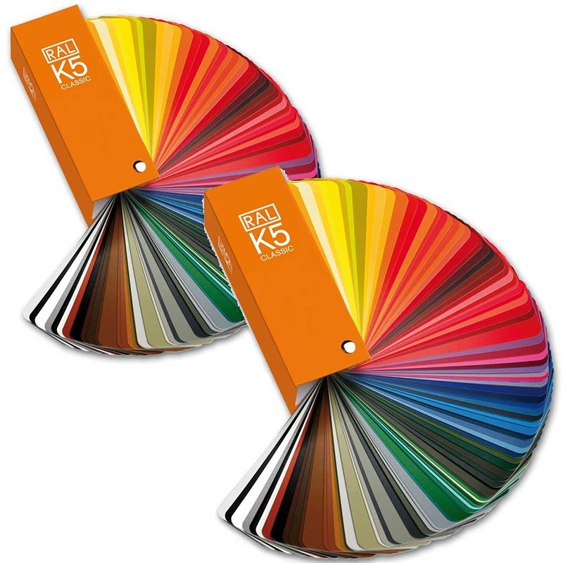 RAL K5 Colour Fan Deck + 213 RAL CLASSIC Colours (Semi-matte + gloss)