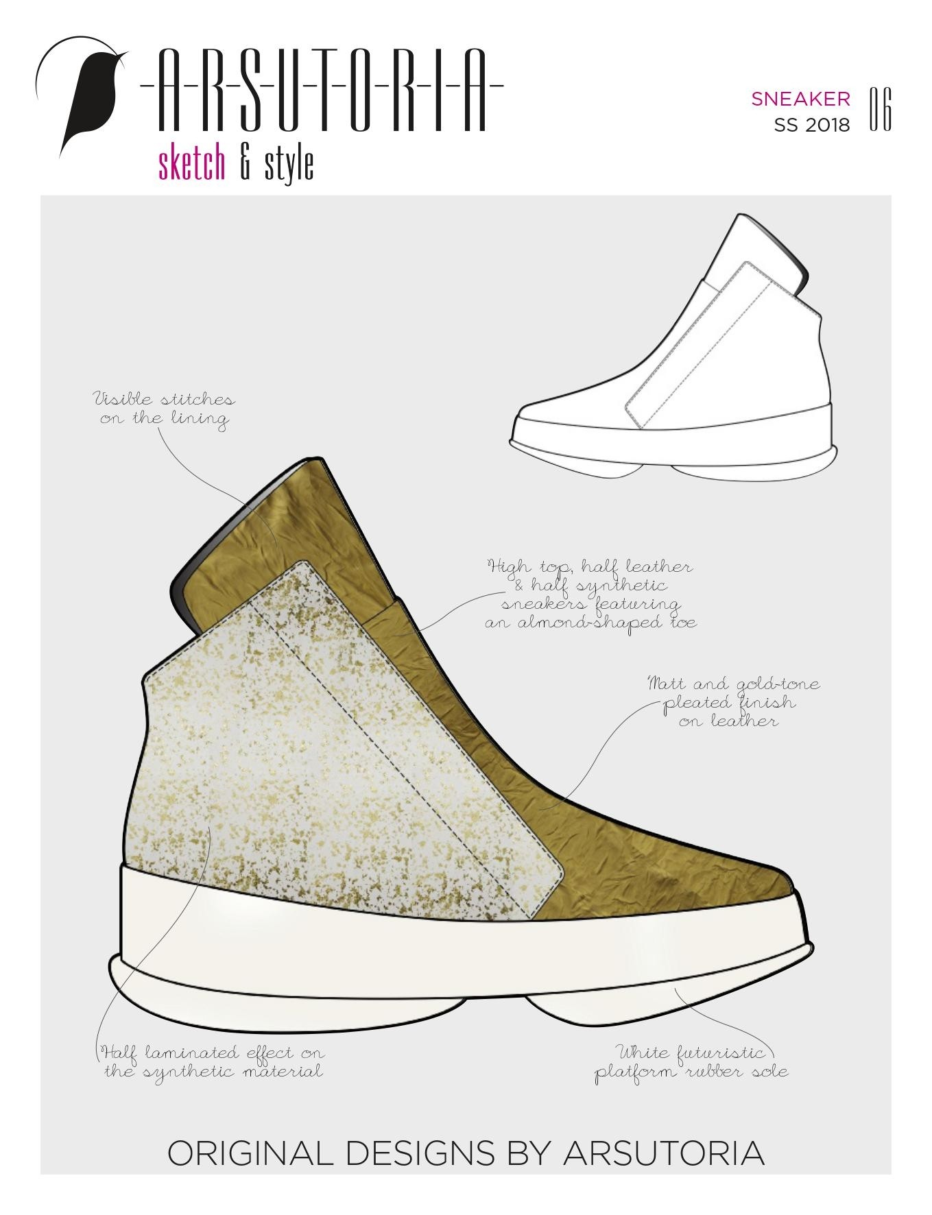 Arsutoria Sketch & Style Sneaker (Man & Woman) Magazine Subscription