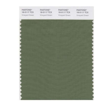 Pantone 18-0117 TCX Swatch Card Vineyard Green