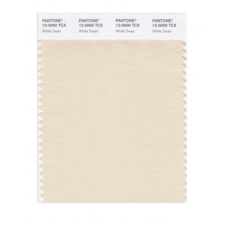 Pantone 12-0000 TCX Swatch Card White Swan