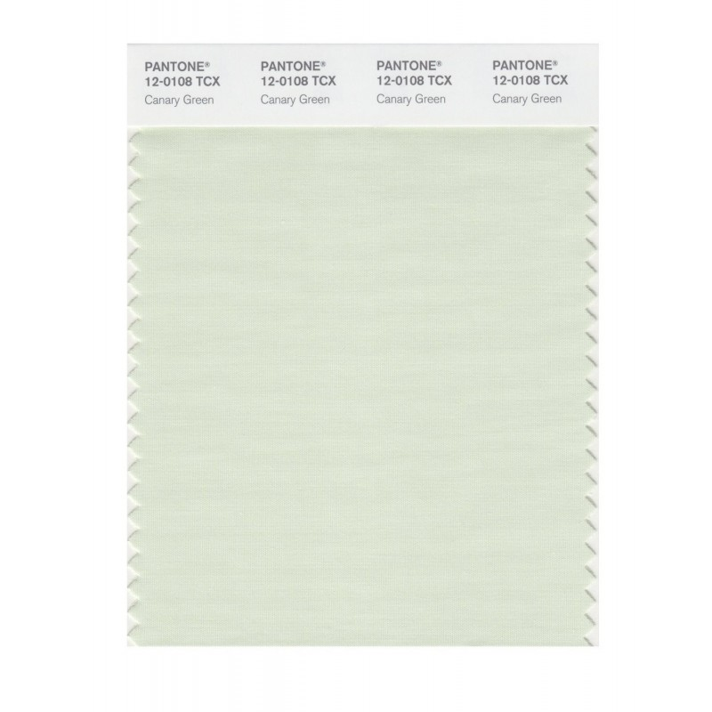 Pantone 12-0108 TCX Swatch Card Canary Green