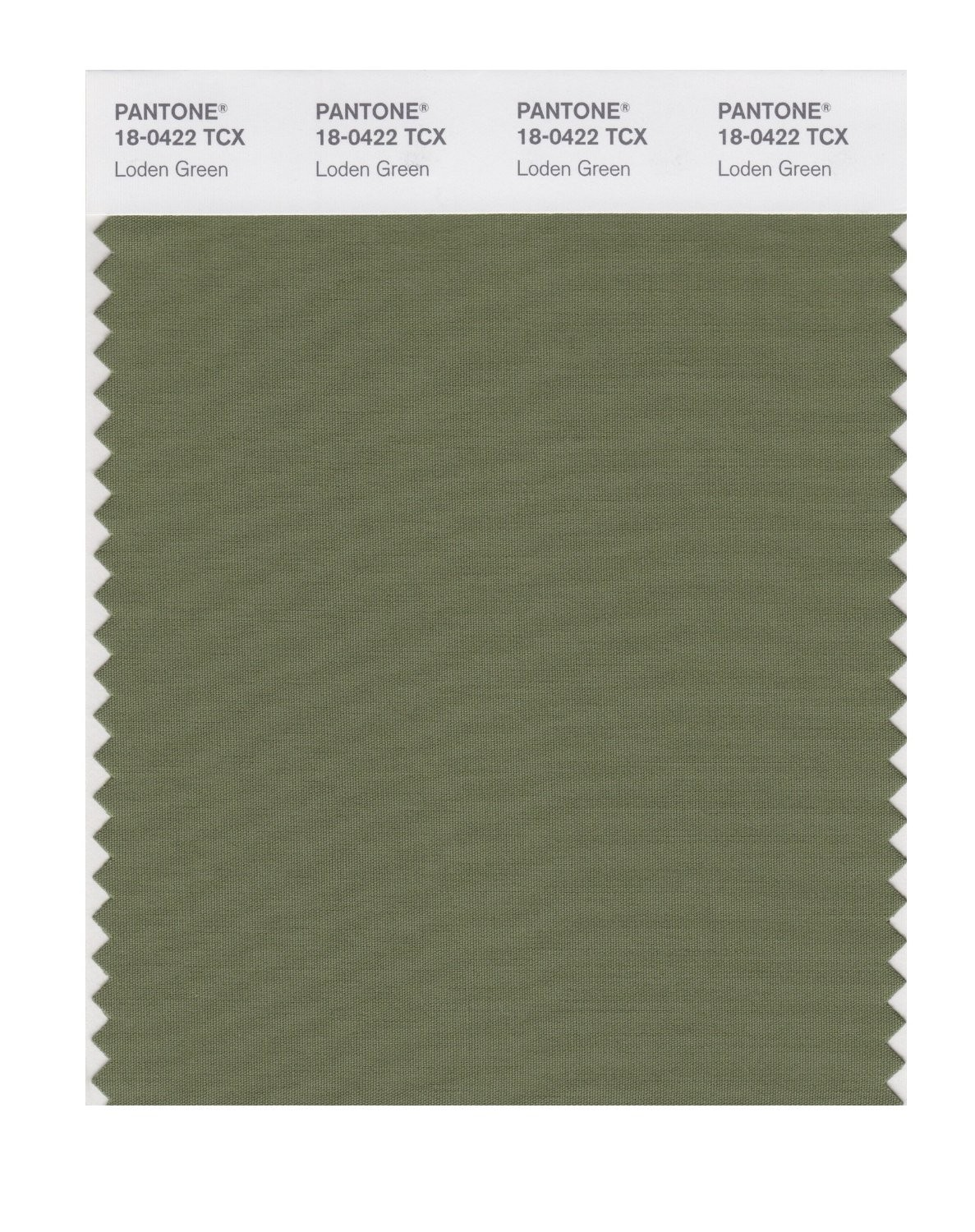 Pantone 18-0422 TCX Swatch Card Loden Green
