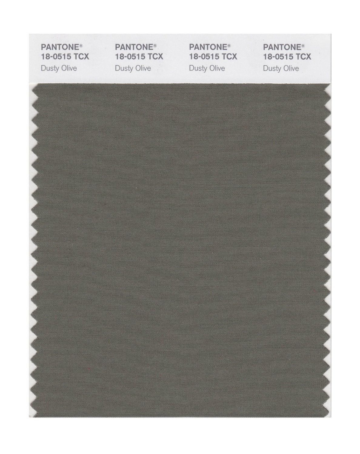 Pantone 18-0515 TCX Swatch Card Dusty Olive
