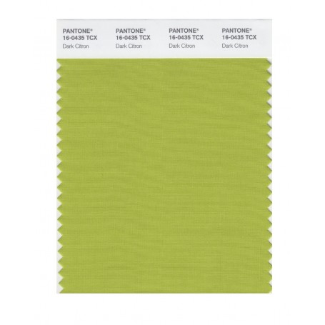Pantone 16-0435 TCX Swatch Card Dark Citron