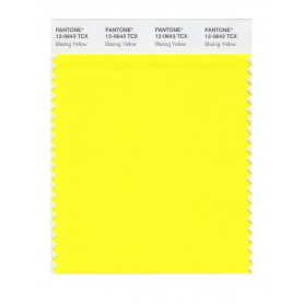 Pantone 12-0643 TCX Swatch Card Blazing Yellow