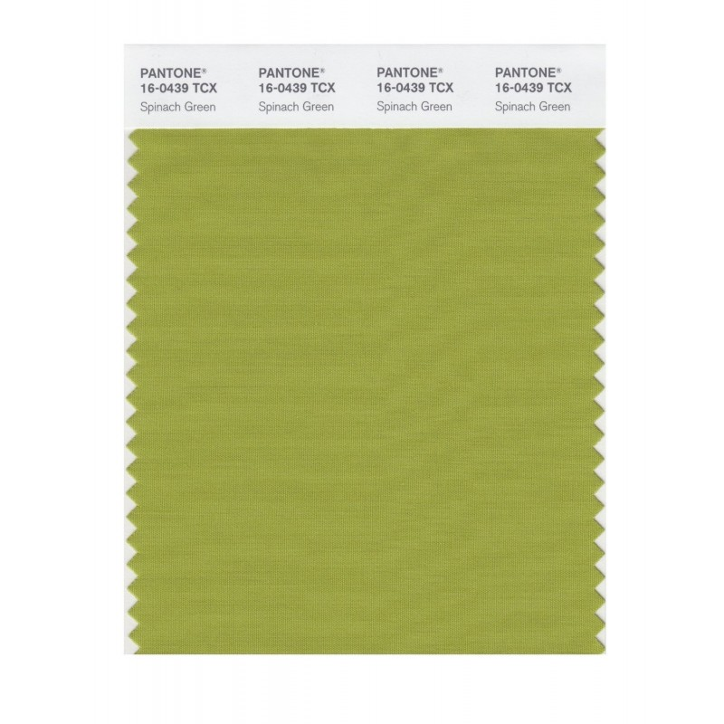 Pantone 16-0439 TCX Swatch Card Spinach Green