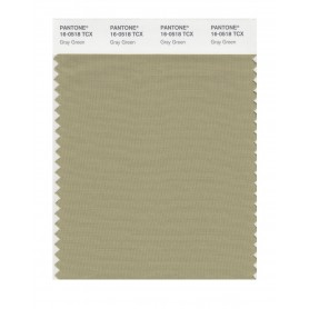 Pantone 16-0518TCX Swatch Card Gray Green