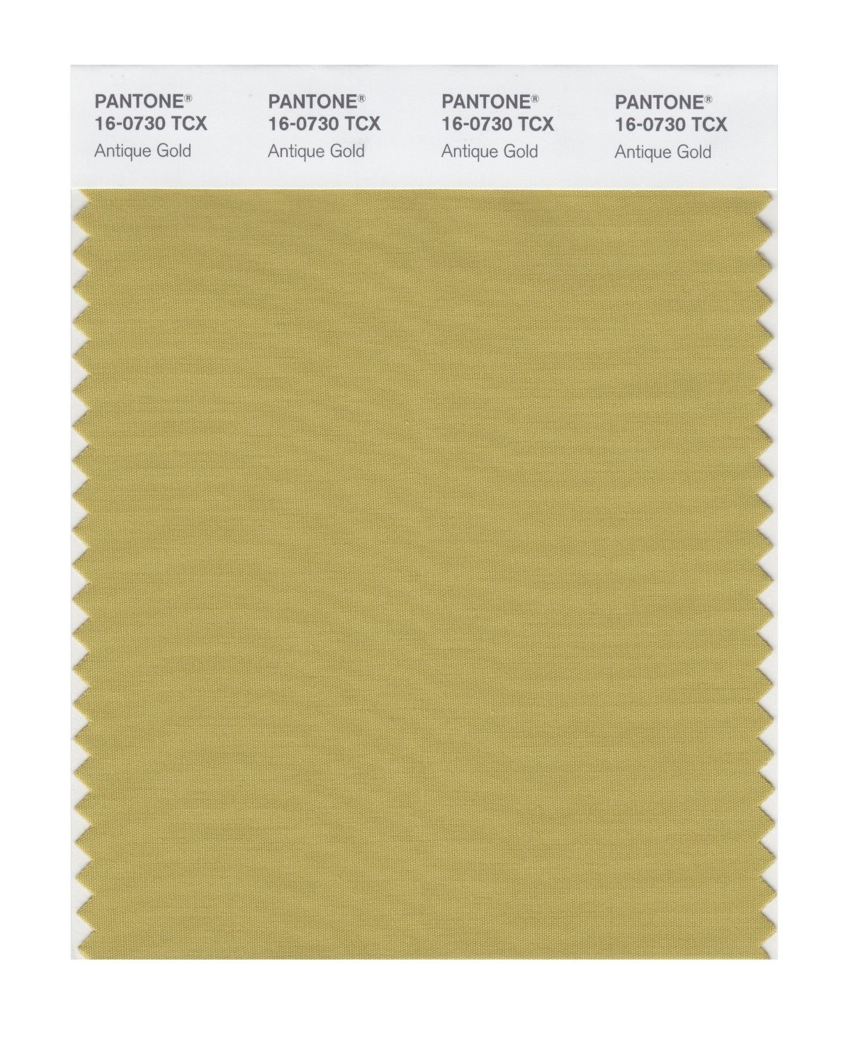 Pantone 16-0730 TCX Swatch Card Antique Gold